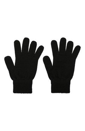 Детские шерстяные перчатки CATYA черного цвета, арт. 125545 | Фото 2