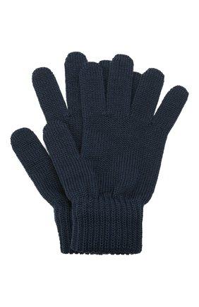 Детские шерстяные перчатки CATYA темно-синего цвета, арт. 125545 | Фото 1