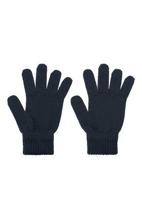 Детские шерстяные перчатки CATYA темно-синего цвета, арт. 125545 | Фото 2