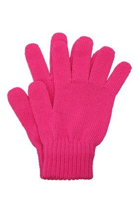Детские шерстяные перчатки CATYA фуксия цвета, арт. 125545 | Фото 1