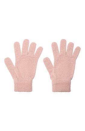 Детские шерстяные перчатки CATYA розового цвета, арт. 125545 | Фото 2