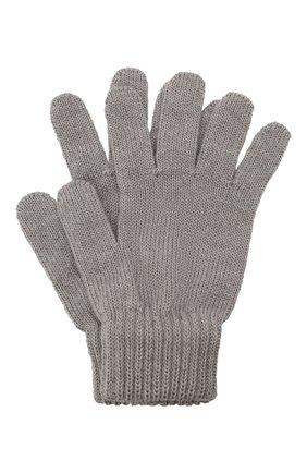 Детские шерстяные перчатки CATYA серого цвета, арт. 125545 | Фото 1