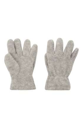 Детские перчатки CATYA серого цвета, арт. 125543 | Фото 2