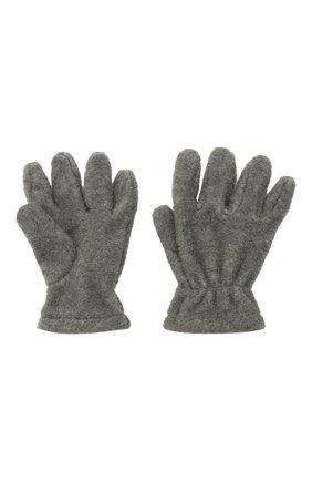 Детские перчатки CATYA темно-серого цвета, арт. 125543 | Фото 2