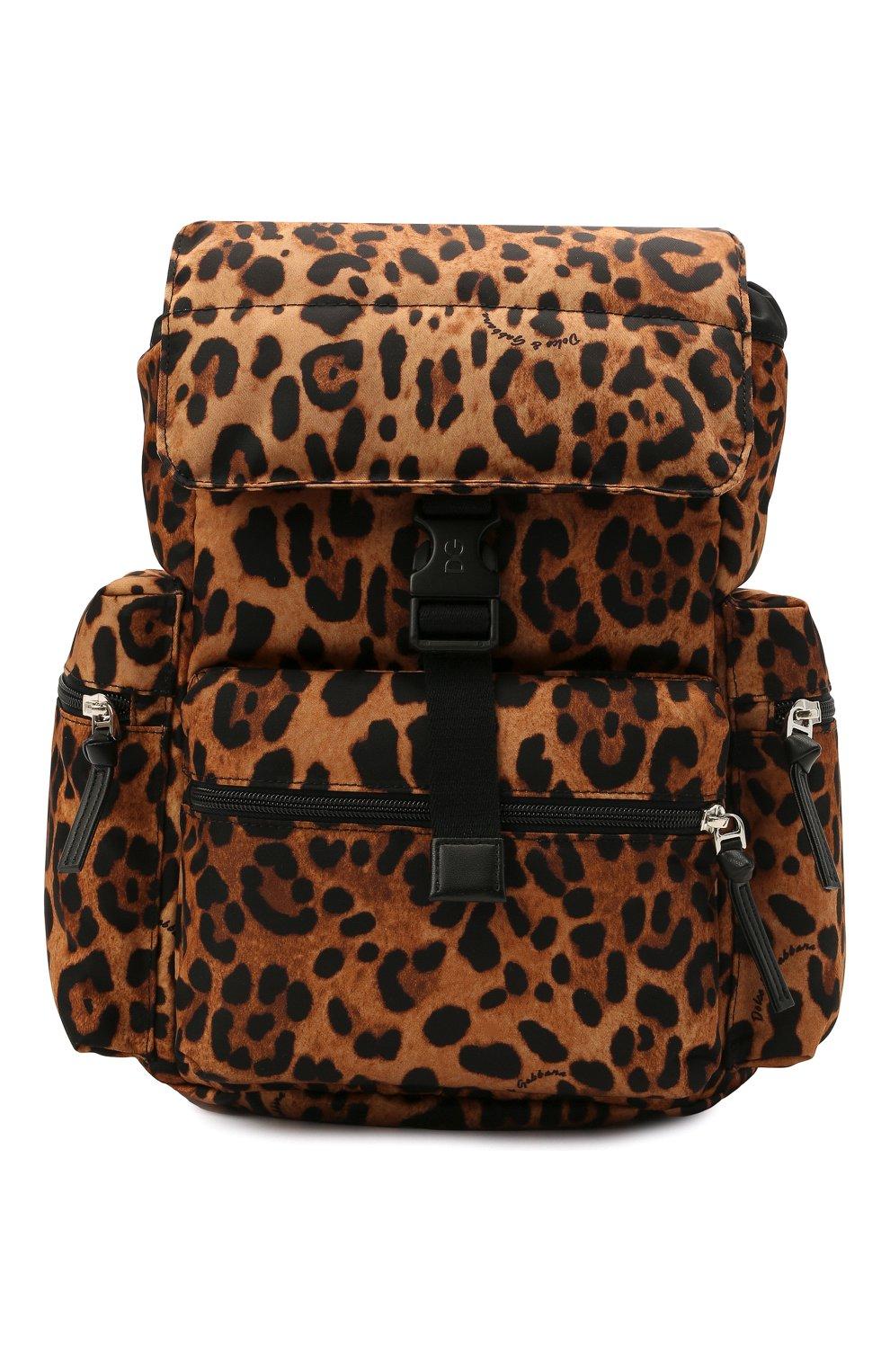Детская рюкзак DOLCE & GABBANA коричневого цвета, арт. EB0235/A0824   Фото 1 (Материал: Текстиль)