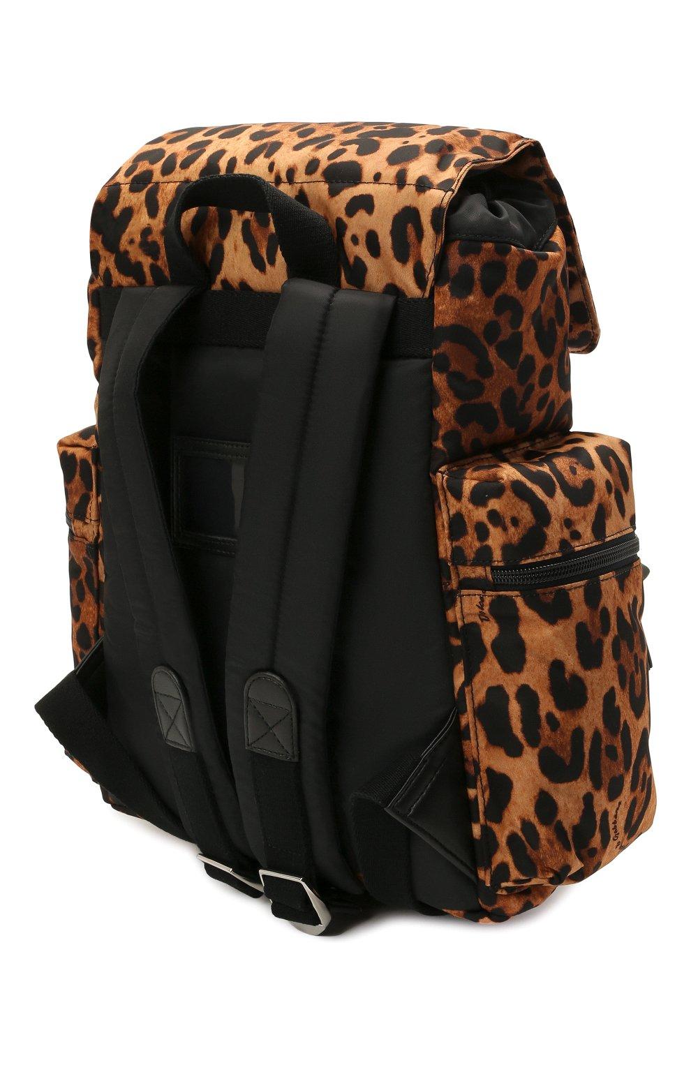 Детская рюкзак DOLCE & GABBANA коричневого цвета, арт. EB0235/A0824   Фото 2 (Материал: Текстиль)