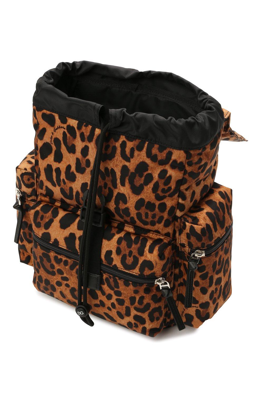 Детская рюкзак DOLCE & GABBANA коричневого цвета, арт. EB0235/A0824   Фото 3 (Материал: Текстиль)