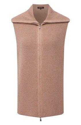 Женский кашемировый жилет LORO PIANA розового цвета, арт. FAL8297 | Фото 1 (Материал внешний: Шерсть, Кашемир; Кросс-КТ: Трикотаж; Женское Кросс-КТ: Жилет-одежда; Стили: Кэжуэл; Длина (верхняя одежда): Короткие)