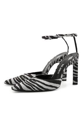 Женские замшевые туфли THE ATTICO черно-белого цвета, арт. 213WS227/EL012 | Фото 1