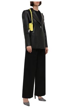 Женские замшевые туфли THE ATTICO черно-белого цвета, арт. 213WS227/EL012 | Фото 2