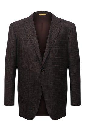 Мужской пиджак из шерсти и кашемира CANALI коричневого цвета, арт. 13275/CF01749/102/60-64   Фото 1