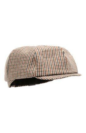 Мужская кепи из шерсти и вискозы DSQUARED2 светло-коричневого цвета, арт. HAM0035 01W03286 | Фото 1 (Материал: Шерсть)