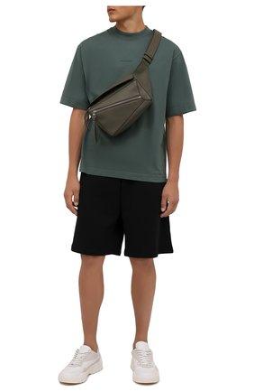 Мужские хлопковые шорты ACNE STUDIOS черного цвета, арт. CE0015/M | Фото 2