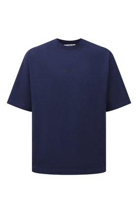 Мужская хлопковая футболка  ACNE STUDIOS синего цвета, арт. BL0278 | Фото 1