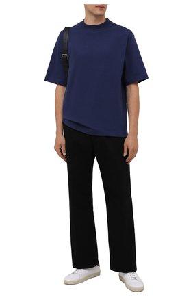 Мужская хлопковая футболка  ACNE STUDIOS синего цвета, арт. BL0278 | Фото 2