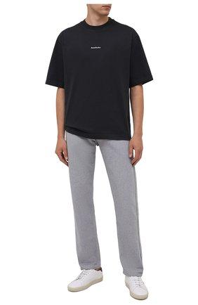 Мужская хлопковая футболка  ACNE STUDIOS черного цвета, арт. BL0278 | Фото 2