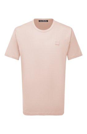 Мужская хлопковая футболка ACNE STUDIOS светло-розового цвета, арт. 25E173/M | Фото 1