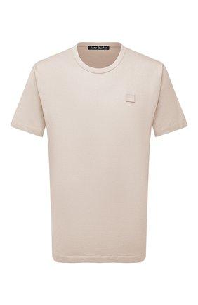 Мужская хлопковая футболка ACNE STUDIOS бежевого цвета, арт. 25E173/M | Фото 1