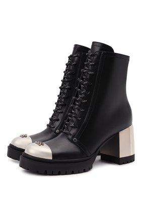 Женские кожаные ботильоны CASADEI черного цвета, арт. 1R271T0701C14669000   Фото 1
