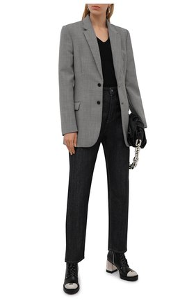 Женские кожаные ботильоны CASADEI черного цвета, арт. 1R271T0701C14669000   Фото 2
