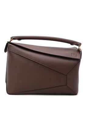 Женская сумка puzzle LOEWE серого цвета, арт. A510P49X05 | Фото 1