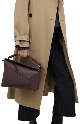 Женская сумка puzzle LOEWE серого цвета, арт. A510P49X05 | Фото 2