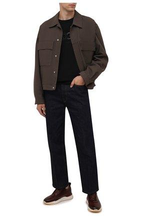 Мужские кожаные кроссовки SANTONI бордового цвета, арт. MBIM21611WTMTDYES20 | Фото 2