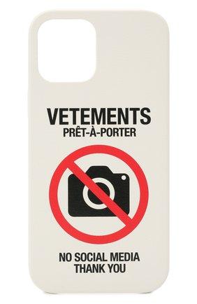 Чехол для iphone 12 pro max VETEMENTS белого цвета, арт. UA52SA400W 2410/W/WHITE 12 PR0 MAX | Фото 1