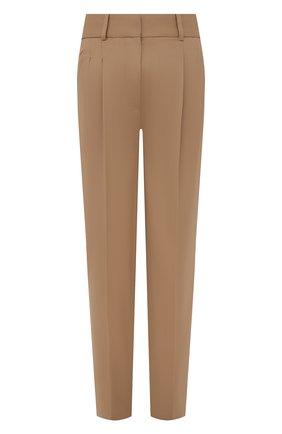 Женские шерстяные брюки STELLA MCCARTNEY светло-бежевого цвета, арт. 603697/SNB53 | Фото 1 (Материал внешний: Шерсть; Длина (брюки, джинсы): Стандартные; Случай: Формальный; Силуэт Ж (брюки и джинсы): Прямые; Стили: Классический; Женское Кросс-КТ: Брюки-одежда)