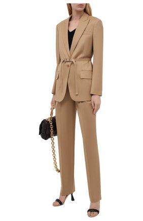 Женские шерстяные брюки STELLA MCCARTNEY светло-бежевого цвета, арт. 603697/SNB53 | Фото 2 (Материал внешний: Шерсть; Длина (брюки, джинсы): Стандартные; Случай: Формальный; Силуэт Ж (брюки и джинсы): Прямые; Стили: Классический; Женское Кросс-КТ: Брюки-одежда)