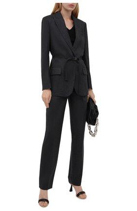 Женские шерстяные брюки STELLA MCCARTNEY серого цвета, арт. 603697/SNB53 | Фото 2 (Материал внешний: Шерсть; Длина (брюки, джинсы): Стандартные; Случай: Формальный; Силуэт Ж (брюки и джинсы): Прямые; Стили: Классический; Женское Кросс-КТ: Брюки-одежда)