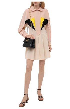 Женское шелковое платье STELLA MCCARTNEY розового цвета, арт. 603781/SY206 | Фото 2 (Материал подклада: Вискоза; Материал внешний: Шелк; Длина Ж (юбки, платья, шорты): Мини; Рукава: Длинные; Женское Кросс-КТ: Платье-одежда; Случай: Повседневный; Стили: Кэжуэл)