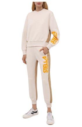 Женский хлопковый свитшот STELLA MCCARTNEY кремвого цвета, арт. 603661/S0W79 | Фото 2 (Материал внешний: Хлопок; Рукава: Длинные; Длина (для топов): Стандартные; Женское Кросс-КТ: Свитшот-одежда, Свитшот-спорт; Стили: Спорт-шик)