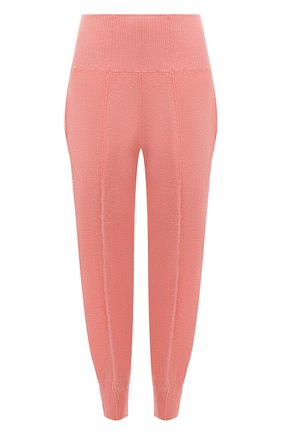 Женские шерстяные джоггеры STELLA MCCARTNEY розового цвета, арт. 603614/S2254 | Фото 1 (Материал внешний: Шерсть; Длина (брюки, джинсы): Укороченные; Кросс-КТ: Трикотаж; Силуэт Ж (брюки и джинсы): Джоггеры; Стили: Спорт-шик; Женское Кросс-КТ: Джоггеры - брюки, Брюки-спорт)