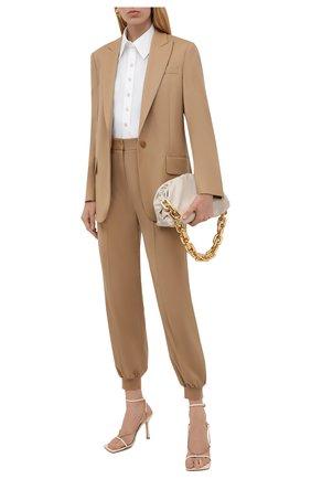 Женские шерстяные джоггеры STELLA MCCARTNEY светло-бежевого цвета, арт. 603276/SNB53 | Фото 2 (Материал внешний: Шерсть; Длина (брюки, джинсы): Стандартные; Силуэт Ж (брюки и джинсы): Джоггеры; Случай: Формальный; Стили: Классический; Женское Кросс-КТ: Джоггеры - брюки)