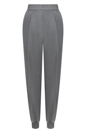 Женские шерстяные джоггеры STELLA MCCARTNEY светло-серого цвета, арт. 603276/SNB53 | Фото 1 (Длина (брюки, джинсы): Стандартные; Материал внешний: Шерсть; Силуэт Ж (брюки и джинсы): Джоггеры; Случай: Формальный; Стили: Классический; Женское Кросс-КТ: Джоггеры - брюки, Брюки-спорт)