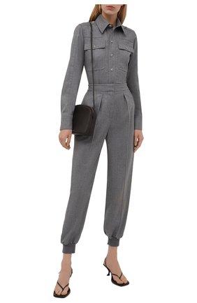 Женские шерстяные джоггеры STELLA MCCARTNEY светло-серого цвета, арт. 603276/SNB53 | Фото 2 (Длина (брюки, джинсы): Стандартные; Материал внешний: Шерсть; Силуэт Ж (брюки и джинсы): Джоггеры; Случай: Формальный; Стили: Классический; Женское Кросс-КТ: Джоггеры - брюки, Брюки-спорт)