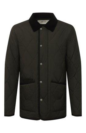 Мужская утепленная куртка Z ZEGNA хаки цвета, арт. VY023/ZZ122 | Фото 1