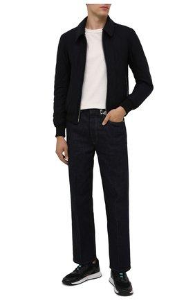 Мужские комбинированные кроссовки BOSS черного цвета, арт. 50455539 | Фото 2 (Материал внешний: Текстиль; Стили: Спорт; Подошва: Массивная)