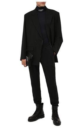 Мужской водолазка VETEMENTS черного цвета, арт. MA52T0100B 2605 | Фото 2