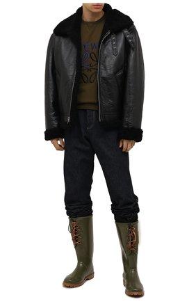 Мужские сапоги DSQUARED2 хаки цвета, арт. RBM0001 17204289 | Фото 2 (Материал внутренний: Текстиль; Материал внешний: Экокожа; Мужское Кросс-КТ: Сапоги-обувь; Подошва: Плоская; Высота голенища: Высокие)