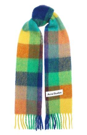 Мужской шарф ACNE STUDIOS разноцветного цвета, арт. CA0084/M | Фото 1 (Материал: Шерсть; Кросс-КТ: шерсть)