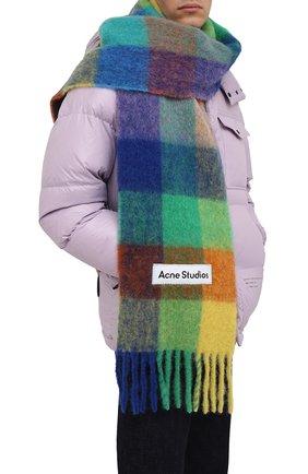 Мужской шарф ACNE STUDIOS разноцветного цвета, арт. CA0084/M | Фото 2 (Материал: Шерсть; Кросс-КТ: шерсть)