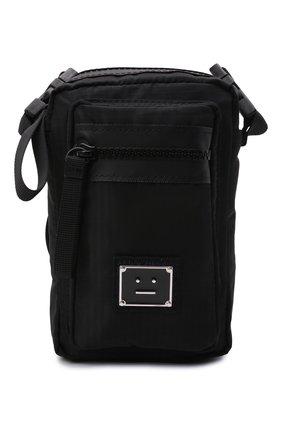 Мужская текстильная сумка arvel ACNE STUDIOS черного цвета, арт. C10092/M   Фото 1 (Материал: Текстиль; Ремень/цепочка: На ремешке)