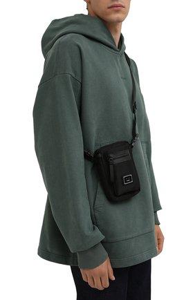 Мужская текстильная сумка arvel ACNE STUDIOS черного цвета, арт. C10092/M   Фото 2 (Материал: Текстиль; Ремень/цепочка: На ремешке)