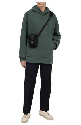 Мужской хлопковое худи ACNE STUDIOS зеленого цвета, арт. BI0139 | Фото 2