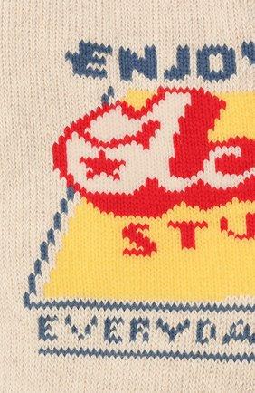 Женские хлопковые носки ACNE STUDIOS кремвого цвета, арт. C80104/W | Фото 2