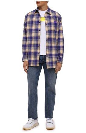 Мужские кожаные кеды perey ACNE STUDIOS белого цвета, арт. BD0111 | Фото 2 (Материал внутренний: Текстиль; Подошва: Массивная)