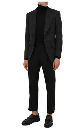 Мужские кожаные монки W.GIBBS черного цвета, арт. 0128010/2303 | Фото 2