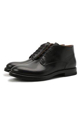 Мужские кожаные ботинки W.GIBBS черного цвета, арт. 0220008/2302 | Фото 1